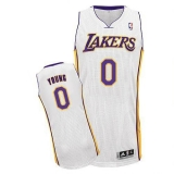 Revolution 30 Los Angeles Lakers #0 Nick Young White Stitched NBA Jersey
