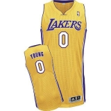 Revolution 30 Los Angeles Lakers #0 Nick Young Yellow Stitched NBA Jersey