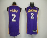 Revolution 30 Los Angeles Lakers #2 Derek Fisher Purple Stitched NBA Jersey