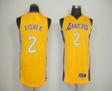 Revolution 30 Los Angeles Lakers #2 Derek Fisher Yellow Stitched NBA Jersey