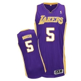 Revolution 30 Los Angeles Lakers #5 Carlos Boozer Purple Stitched NBA Jersey
