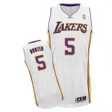 Revolution 30 Los Angeles Lakers #5 Carlos Boozer White Stitched NBA Jersey