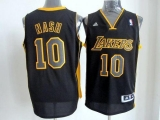 Revolution 30 Los Angeles Lakers #10 Steve Nash Black Gold NO Stitched NBA Jersey