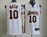 Revolution 30 Los Angeles Lakers #10 Steve Nash White Stitched NBA Jersey