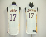 Revolution 30 Los Angeles Lakers #17 Andrew Bynum White Stitched NBA Jersey
