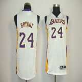 Revolution 30 Los Angeles Lakers #24 Kobe Bryant White Stitched NBA Jersey