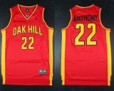 New York Knicks #22 Carmelo Anthony Red Oak Hill Academy High School Stitched NBA Jersey