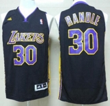 Revolution 30 Los Angeles Lakers #30 Julius Randle Black Purple NO Hollywood Nights Stitched NBA Jersey