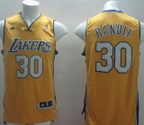 Revolution 30 Los Angeles Lakers #30 Julius Randle Gold Stitched NBA Jersey
