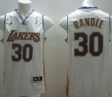 Revolution 30 Los Angeles Lakers #30 Julius Randle White Stitched NBA Jersey