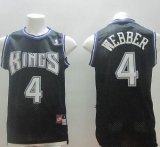 Sacramento Kings #4 Chris Webber Black Throwback Stitched NBA Jersey