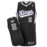 Sacramento Kings #8 Rudy Gay Black Revolution 30 Stitched NBA Jersey