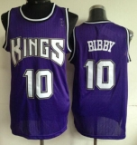 Sacramento Kings #10 Mike Bibby Purple Throwback Stitched NBA Jersey