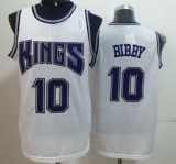 Sacramento Kings #10 Mike Bibby White Throwback Stitched NBA Jersey
