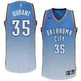 Oklahoma City Thunder #35 Kevin Durant Blue Resonate Fashion Swingman Stitched NBA Jersey