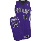 Sacramento Kings #10 Nik Stauskas Purple Revolution 30 Stitched NBA Jersey