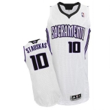 Sacramento Kings #10 Nik Stauskas White Revolution 30 Stitched NBA Jersey