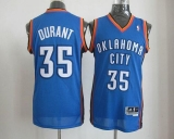 Oklahoma City Thunder #35 Kevin Durant Blue Revolution 30 Stitched NBA Jersey