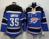Oklahoma City Thunder #35 Kevin Durant Blue Sawyer Hooded Sweatshirt NBA Hoodie