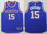 Sacramento Kings #15 DeMarcus Cousins Light Blue 2014-15 Hardwood Classics Stitched NBA Jersey