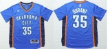 Oklahoma City Thunder #35 Kevin Durant Blue Short Sleeve Stitched NBA Jersey