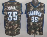 Oklahoma City Thunder #35 Kevin Durant Camo Stealth Collection Stitched NBA Jersey