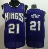 Sacramento Kings #21 Vlade Divac Purple Throwback Stitched NBA Jersey
