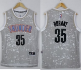 Oklahoma City Thunder #35 Kevin Durant Grey City Light Stitched NBA Jersey