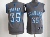 Oklahoma City Thunder #35 Kevin Durant Grey Graystone Fashion Stitched NBA Jersey