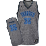 Oklahoma City Thunder #35 Kevin Durant Grey Static Fashion Stitched NBA Jersey