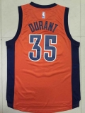 Oklahoma City Thunder #35 Kevin Durant Orange Alternate Stitched NBA Jersey
