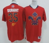 Oklahoma City Thunder #35 Kevin Durant Red 2014 All Star Stitched NBA Jersey