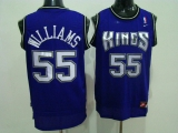 Sacramento Kings #55 Jason Williams Stitched Purple NBA Jersey