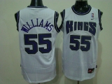 Sacramento Kings #55 Jason Williams Stitched White NBA Jersey