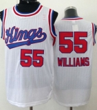 Sacramento Kings #55 Jason Williams White New Throwback Stitched NBA Jersey