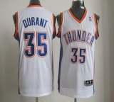 Oklahoma City Thunder #35 Kevin Durant White Revolution 30 Stitched NBA Jersey
