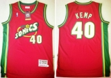 Oklahoma City Thunder #40 Shawn Kemp Red SuperSonics Throwback Stitched NBA Jersey