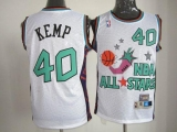 Oklahoma City Thunder #40 Shawn Kemp White SuperSonics 1995 All Star Stitched NBA Jersey