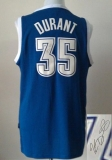 Revolution 30 Autographed Oklahoma City Thunder #35 Kevin Durant Blue Alternate Stitched NBA Jersey