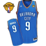 Revolution 30 Oklahoma City Thunder #9 Serge Ibaka Blue Finals Patch Stitched NBA Jersey