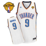 Revolution 30 Oklahoma City Thunder #9 Serge Ibaka White Finals Patch Stitched NBA Jersey