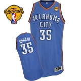 Revolution 30 Oklahoma City Thunder #35 Kevin Durant Blue Finals Patch Stitched NBA Jersey