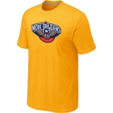 New Orleans Pelicans Big & Tall Primary Logo Yellow T-Shirt