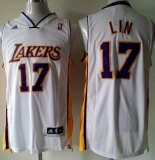 Revolution 30 Los Angeles Lakers #17 Jeremy Lin White Stitched Youth NBA Jersey