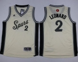 San Antonio Spurs #2 Kawhi Leonard Cream 2015-2016 Christmas Day Youth Stitched NBA Jersey