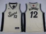 San Antonio Spurs #12 LaMarcus Aldridge Cream 2015-2016 Christmas Day Youth Stitched NBA Jersey