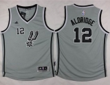San Antonio Spurs #12 LaMarcus Aldridge Grey Youth Stitched NBA Jersey