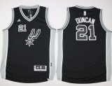 San Antonio Spurs #21 Tim Duncan Black New Road Youth Stitched NBA Jersey