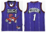 Toronto Raptors #1 Tracy Mcgrady Purple Throwback Youth Stitched NBA Jersey