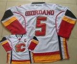 Calgary Flames #5 Mark Giordano White Stitched NHL Jersey
